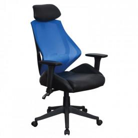 Scaun birou SL Q406 negru - albastru