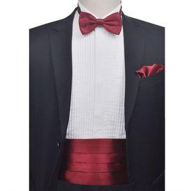 Set brâu și papion pentru bărbați, roșu burgund