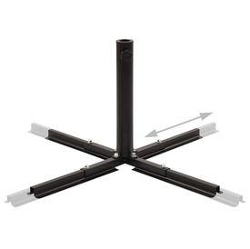 Suport umbrelă de soare pliant, negru, oțel, 2,75 kg