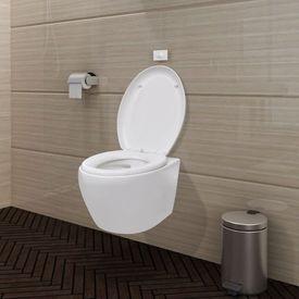 Toaletă suspendată cu rezervor încastrat ceramică albă