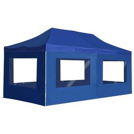 vidaXL Cort de petrecere pliabil cu pereți, albastru, 6x3 m, aluminiu