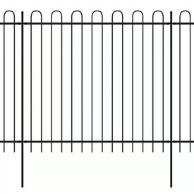 vidaXL Gard securitate ornamental cu vârf rotunjit, oțel, 600x175 cm