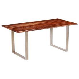 vidaXL Masă de bucătărie, lemn masiv palisandru, 180 x 90 x 76 cm