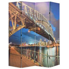 vidaXL Paravan de cameră pliabil, 160 x 180 cm, Sydney Harbour Bridge