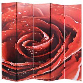 vidaXL Paravan de cameră pliabil 200x180 cm Trandafir roșu