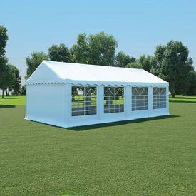 vidaXL Pavilion grădină, alb, 4 x 8 m, PVC