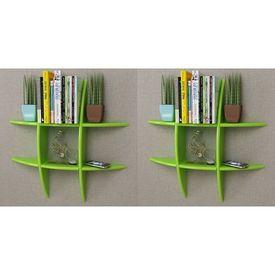 vidaXL Rafturi de perete, 2 buc., verde