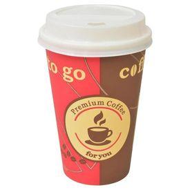 Pahare de cafea de unică folosință cu capace 350 ml, 1000 buc.