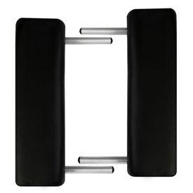 Masă de masaj pliabilă 2 părți cadru din aluminiu Negru