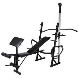 Bancă fitness cu rastel greutăți, set haltere/gantere, 30,5kg