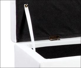 Bancheta dormitor cu compartiment depozitare (alb)
