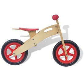 Bicicletă pentru echilibru din lemn, roșu