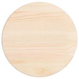 Blat de masă, 28 mm 50 cm, lemn natural de pin, rotund