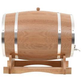 Butoi de vin cu canea, stejar masiv, 35 L