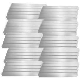 [casa.pro]® Set 50 bucati bordura decorativa pentru gradina - 50m - argintiu