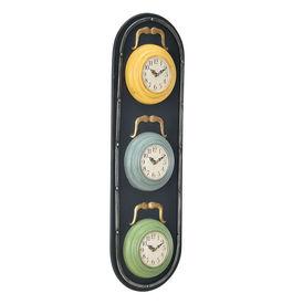 Ceas design de perete - Model 22 Semafor, metal/plastic, 25 x 4,5 x 80 cm, multicolor