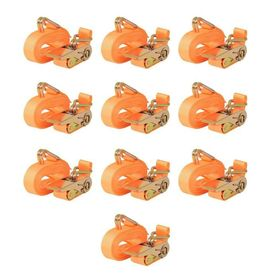 Chingi fixare cu clichet, 10 buc. 0,8 tone, 6mx25mm, portocaliu