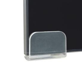 Comodă TV/Suport monitor, sticlă, 70 x 30 x 13 cm, negru