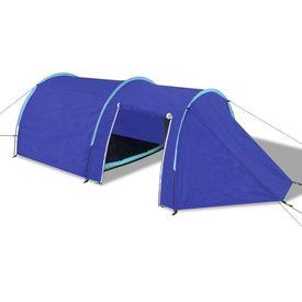 Cort camping 4 persoane, Bleumarin/Albastru deschis