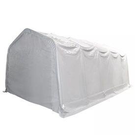 Cort de depozitare, alb, 5 x10 m, PVC, 550 g/m²