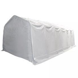 Cort de depozitare, alb, 6 x 12 m, PVC, 550 g/m²