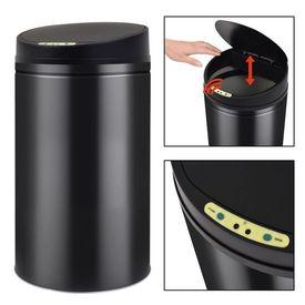 Coș de gunoi cu senzor automat 42 L, negru