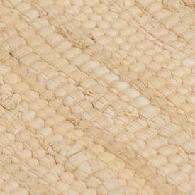 Covor Chindi țesut manual, bumbac, 80 x 160 cm, crem