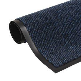 Covor de ușă anti-praf, dreptunghiular, 40 x 60 cm, albastru