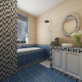 Dale Sticlă Mozaic Negru-Alb-Gri 30 buc 2,7 mp