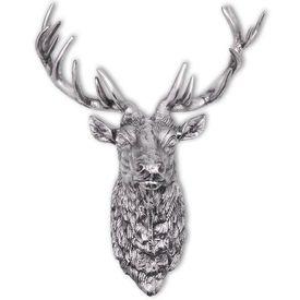 Decorațiune cap de căprioară, din aluminiu, de perete, argintiu