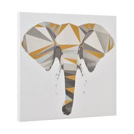 Design fotografie de perete imprimata pe hartie pergament - elefant - cu rama ascunsa - 40x40x2,8cm
