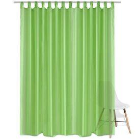 Draperie transparentă, 290 x 225 cm, verde, 2 buc.