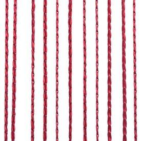 Draperii cu franjuri, 2 buc., 140 x 250 cm, roșu burgund