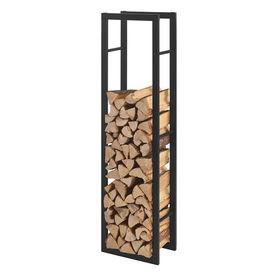 [en.casa]® Stove Suport lemne pentru sobe si seminee AAFR-6605, 40 x 150 x 25 cm, otel, negru