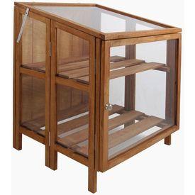 Esschert Design seră mică din lemn solid GT32