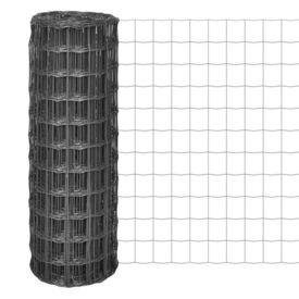 Euro gard cu plasă din oțel de 100 x 100 mm, 25 x 1,5 m, gri