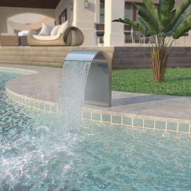 Fântână de piscină, oțel inoxidabil 45x30x65 cm, argintiu
