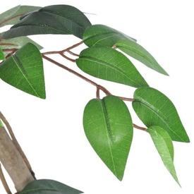 Ficus artificial cu aspect natural și ghiveci, 160 cm