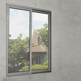 Folie pentru geam – folie adeziva protectie vizuala - 1x2m - argintiu – reflectant