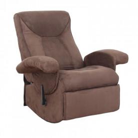 Fotoliu relaxant cu functie electrica de vibratie textil maro GL SUAREZ
