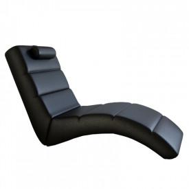 Fotoliu relaxare piele ecologica neagra GL LONG