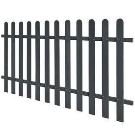 Gard din șipci din WPC, 200 x 100 cm, gri