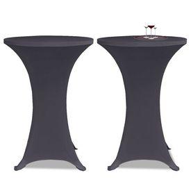 Husă elastică pentru masă, 80 cm, antracit, 2 buc.