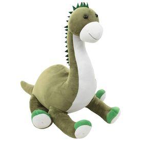 Jucărie dinozaur Brontosaurus, verde, pluș