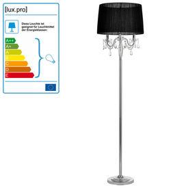 Lampa de podea eleganta - Noble Black 3 x E 14 - 40W - negru / crom