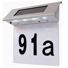 Lumină solară cu LED pentru numărul casei, oțel inoxidabil