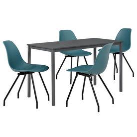 Masa bucatarie/salon design elegant (120x60cm) + 4 scaune turcoaz elegante / scaun bucatarie/salon