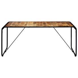 Masă de bucătărie, 180x90x76 cm, lemn masiv de mango nefinisat