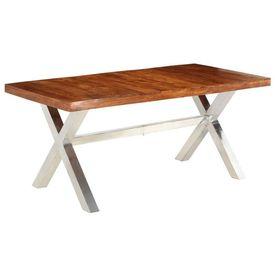Masă din lemn masiv cu finisaj din palisandru, 180x90x76 cm