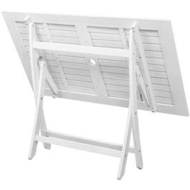 Masă pentru exterior dreptunghiulară din lemn de acacia, alb